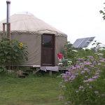 Living in a Yurt on an Organic Farm