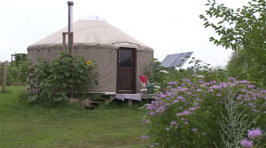 Living in a Yurt on an Organic Farm