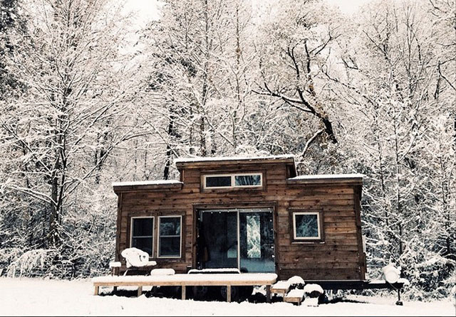 stunning tiny home on wheels on a modern homestead sustainable simplicity. Black Bedroom Furniture Sets. Home Design Ideas