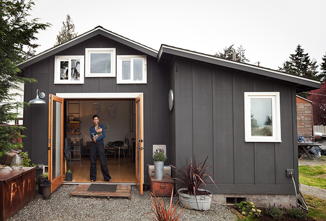 Garage Converted To 250 Sq Ft Modern Tiny House