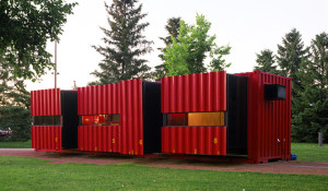 500 Sq Ft Shipping Container Home with Pull Out Living Areas