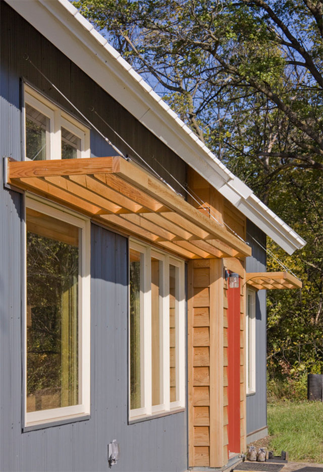 Small Window Awnings Passive Solar Minnesota House On The