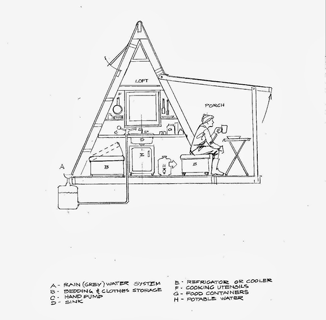 110 Sq Ft Transforming A-Frame Cabin Built for $1K