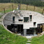 Impressive Swiss Villa Built into a Mountainside