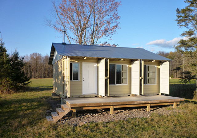 Creative 450 Sq Ft Shipping Container Cabin