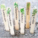 15 Creative DIY Garden Plant Marker Ideas