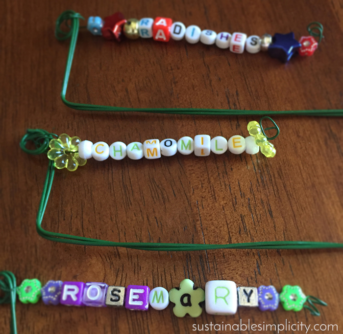 DIY beaded garden markers 6