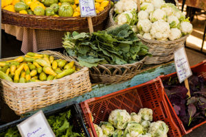 Local fruits and vegetables